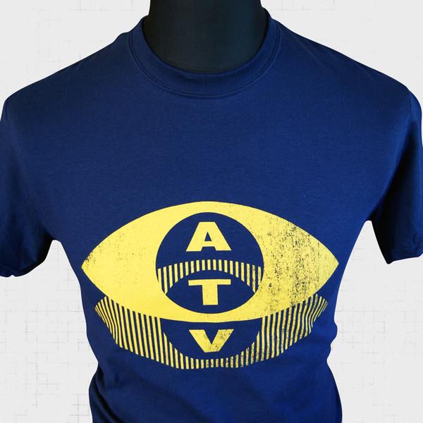 ATV T-Shirt Retro Serin Retro Logo TV Vintage Eski Okul Altın Kült Komik ücretsiz kargo Unisex Rahat Tişört üst