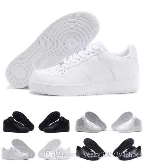Compre Nike Air Force One 1 AF1 Zapatillas Flyline Para Hombre, Mujer, Zapatos Low Low White, Zapatillas De Deporte, Tamaño EUR 36 45 Envío Gratis A