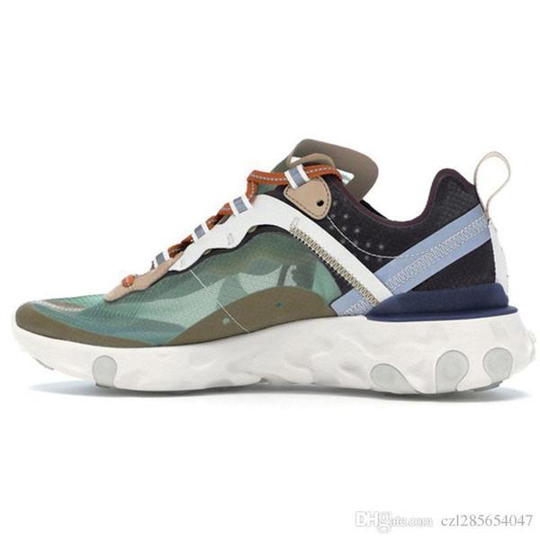 Nuevo 2019 Undercover X Próximamente React Element 87 Antracita Negro Royal Tint Sneakers Brand Hombres Mujeres Zapatillas de deporte de diseñador Zapatos para correr