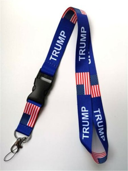best selling Trump USA Flag Lanyards with Swivel Hook Clips for ID Name Badge Holder Badge Camera Rope