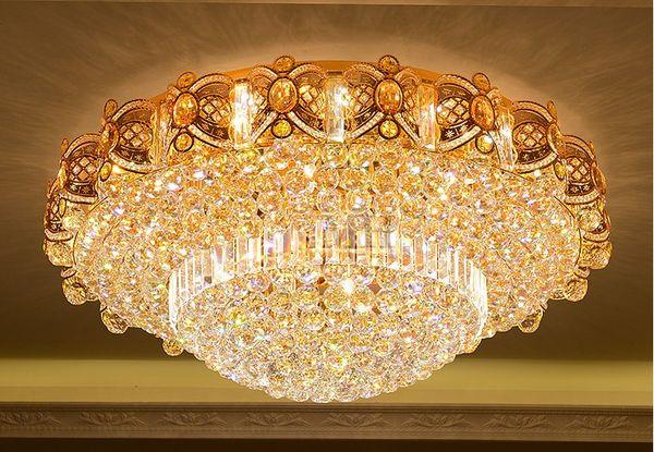 Plafoniere Da Soffitto In Cristallo : Acquista led luci di cristallo luminosità soggiorno plafoniera