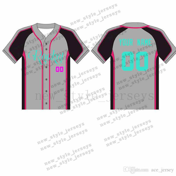 71MAN Personalizado Jerseys de Beisebol Respirável 2019 Homens juventude Secagem Rápida Azul branco Costurado M-XXXL Verde Jerseys de beisebol