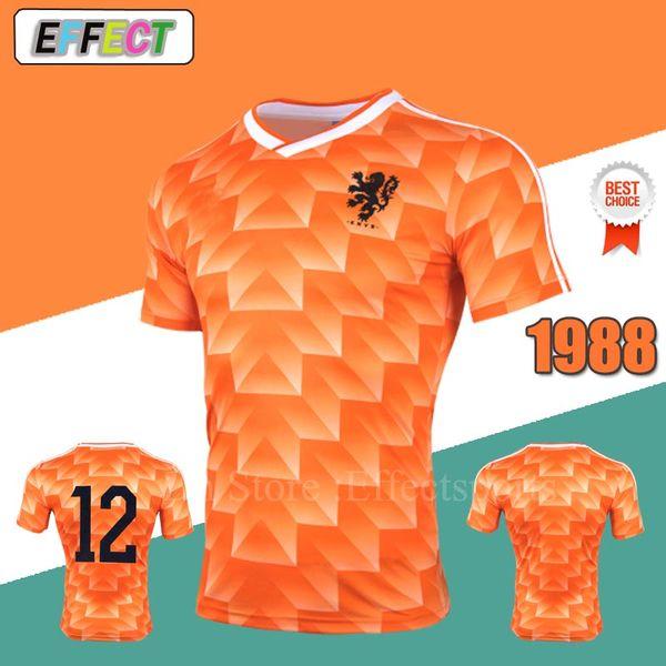 c2d49357b1d netherlands shirts Promo Codes - Retro 1988 Netherlands Soccer Jerseys  Orange Classic Vintage Holland Euro Germany