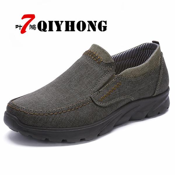 Men's Autumn Upscale Shoes 38-48 Comfortable Men Casual Shoes Canvas Breathable Loafers Slip-on Footwear Slipon Walking #206458