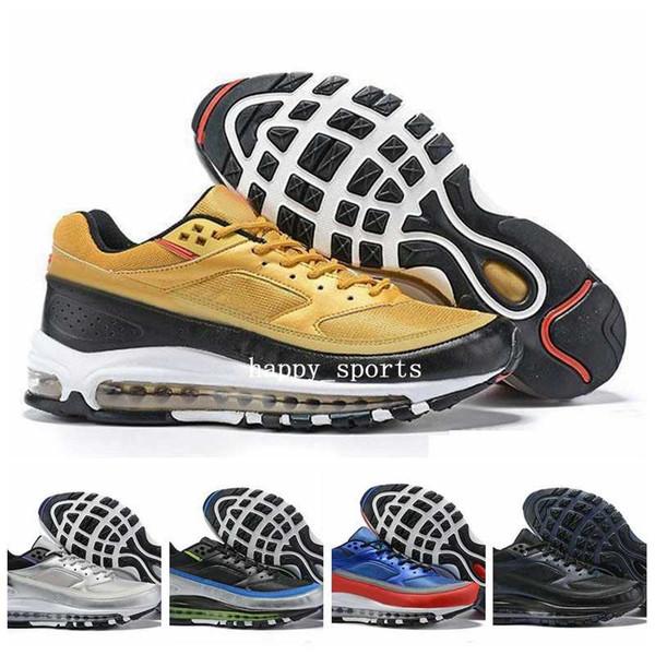 De 97 Pour Violet Designer Londres Air Acheter Chaussures Skepta Hommes 2019 Des Baskets Course BW Hommes Nike Argent Max X Métallisé Bronze vgI76Yfby