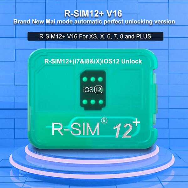 RSIM12 + RSIM 12+ RSIM12 + R SIM 12Plus Cartão de desbloqueio para o iPhone XS Max IOS12.2 IOS12.3 ICCID Unlock SIM