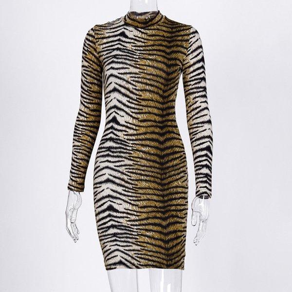 leopard short dress C