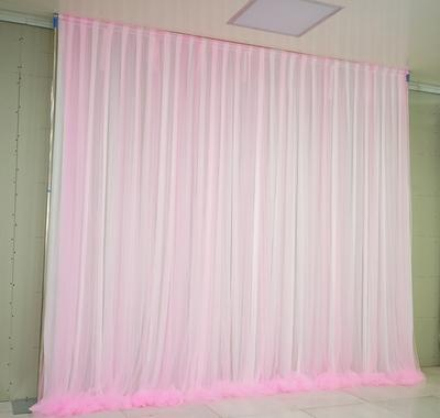 Paño blanco puro + hilo rosa