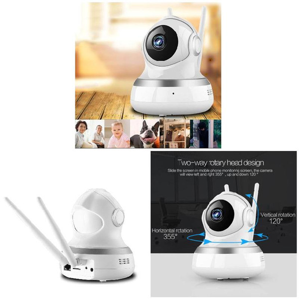 Wireless 720P Pan Tilt Networks Security CCTV IP Camera Night Vision WiFi Webcam Sound Motion Detection Baby Monitor SL@88