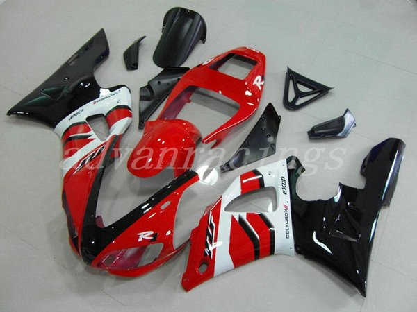 New ABS motorcycle bike Fairings Kits Fit For Yamaha YZF 600 R6 98 99 00 01 02 YZF-R6 1998-2002 bodywork set red black