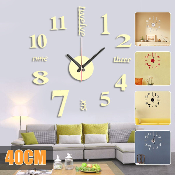 home office decor ideas.htm 16 inches 3d diy mini modern style wall clock mirror surface  modern style wall clock mirror surface