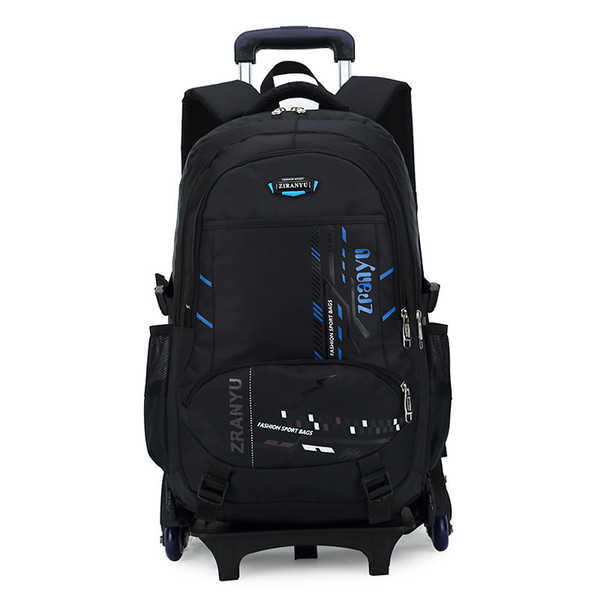 YCBXBAO Latest Removable Children School Bags 2/6 Wheels Stairs Kids boys girls backpacks Trolley Schoolbag Luggage Book Bags