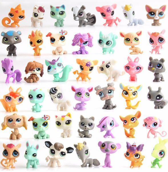 Magic eggs cartoon toys Random Pick Mini Littlest Pet Shop LPS Doll Animal Cartoon Cat Dog Animal Mini 1.0in Action Figures Kids Toys