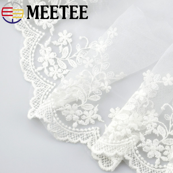 Meetee 15cm Water Soluble Lace Fabric Ribbon Trim Sewing Embroidery Wedding Dress Garment Accessories Diy Craft