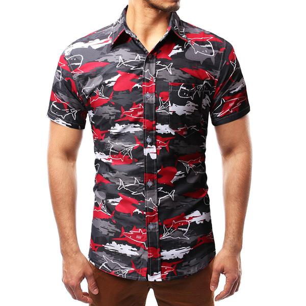 Camouflage occasionnel shirt à manches courtes # MC31