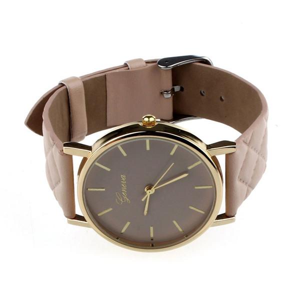 Durable 1 unids damas casuales unisex de imitación de cuero analógico reloj de pulsera de cuarzo mujer relojes marca de lujo para relojes mujer