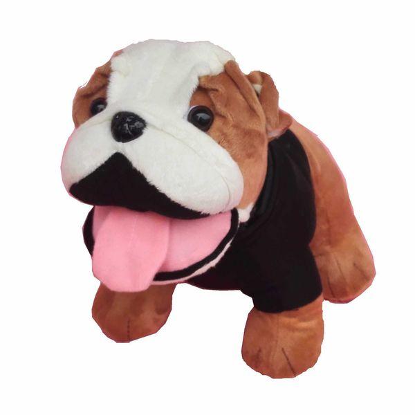Brinquedo do ponto shapi cão mascote bulldog boneca car modelo boneca simulação cão