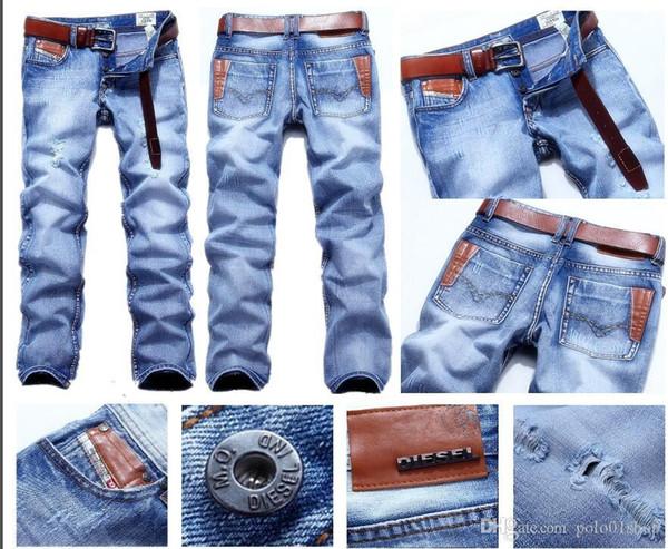 un jeans 2019 New Fashion business Casual Denim Pants Uomo taglio dritto pantaloni leggermente stretch di grandi dimensioni 28-38 21 colori