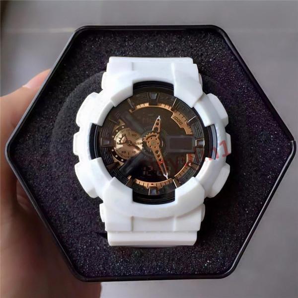 Männer männlich 2019 neue ankunft uhren g stil led digital armbanduhren für mans shock wasserdicht analoge uhren dropshipping silikonband saat