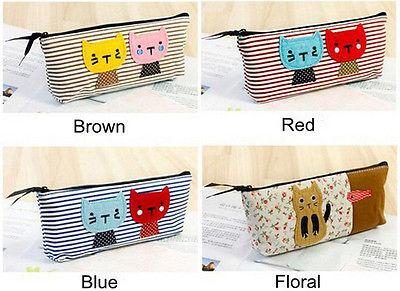 Cute Mini Lovely School Bag Pen Case Students Canvas Cosmetic Bag Portable make up travel wash Bag Multifunctional