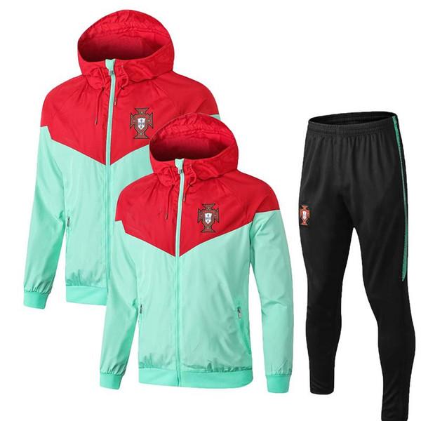 Nouveau 2018 2019 Champion du Monde de Coupe du Monde de Football EDER Coupe-vent Sportswear 18-19 Pantalons d'entraînement portugais Entraînement de football uniforme pour hommes