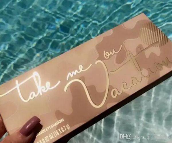 HOT Paleta Ky Jenner 16color sombra com escova Tome-me em férias Pressionado Pó Eyeshadow Aloha frete grátis