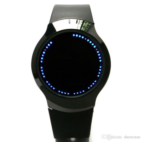 Hommes Quartz Montre-Bracelet 12H Écran Tactile LED Voyant Affichage Garçon Montre Bande De Silicone Sport Horloge Relogio Moderne