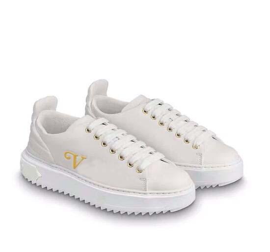 женщины Fastlane кроссовки мягкие и легкие повседневная мода плоские туфли дизайнер натуральная кожа кроссовки вышивка буквы монограмма обуви 80
