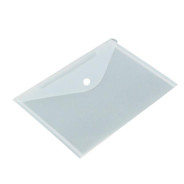 12PCS는 설정 / 투명 플라스틱 A5 폴더 파일 가방 문서 용지 보관 사무실 학교 용품을 제출 가방 폴더를 잡고