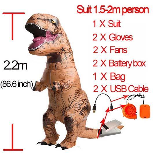 Brown L Dinosauro gonfiabile
