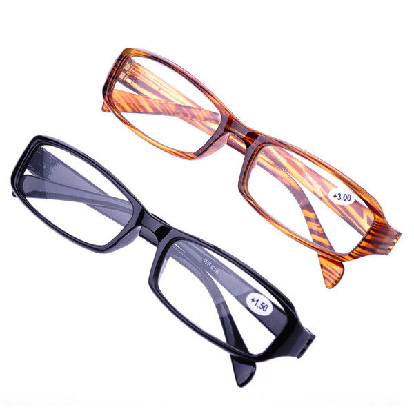 Reading Glasses Resin HD Glasses Fashion Old Man Glasses Flexible Telescopic Glass Brown Stripes/black Glass
