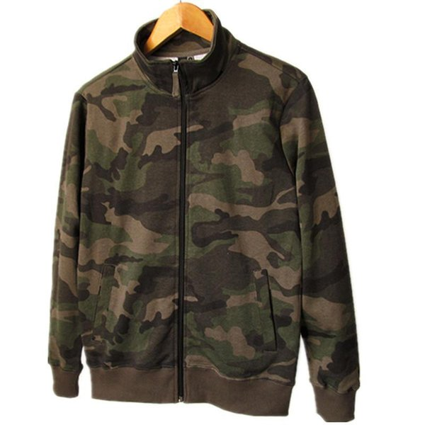 Autumn Winter Ladies Zip-up Hoodies Ladies Casual Camouflage Cotton Terry Long Sleeve Plus Size Loose Sweatshirts For Women