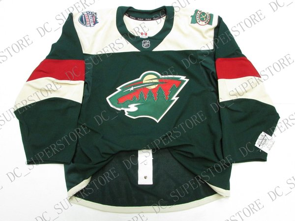 Cheap custom MINNESOTA WILD 2016 STADIUM SERIES TEAM ISSUED JERSEY stitch add any number any name Mens Hockey Jersey XS-5XL