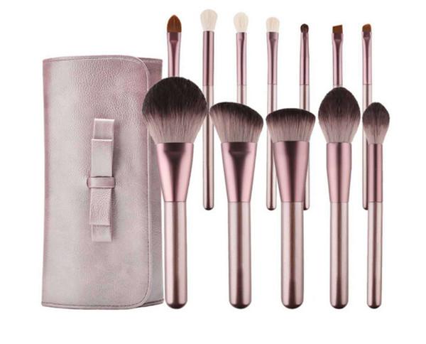 Hochwertige Lila Make-up Pinsel Set Kits 12 teile / satz Hochleistungswerkzeug Pinsel Powder Foundation Rouge Lidschatten Werkzeuge mit Make-up Tasche