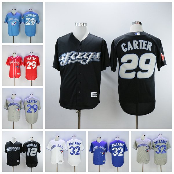 newest collection 05e6c d0b9e 2019 Men'S Toronto Roberto Alomar Jersey Blue Jays Joe Carter Red White  Blue White Alternate Flexbase Jersey Cheap Sale.. From Usa_jersey_shop,  $25.39 ...