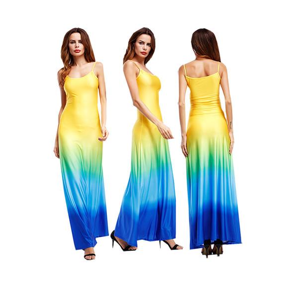 fb4f2e375bc5c Saia longa sexy verão sling dress boutique moda feminina roupas de festa  vestidos de festa vestido
