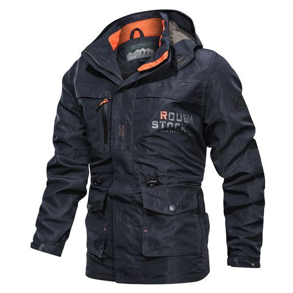 Nueva chaqueta de bombardero Hombres Otoño Invierno Multi-bolsillo de la chaqueta impermeable táctica militar rompevientos hombres Parkas Stormwear al aire libre