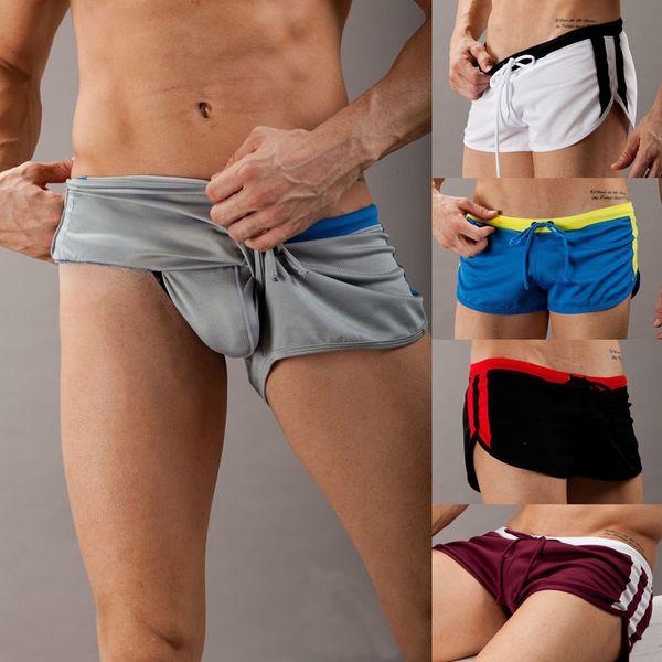 New Sport Mesh Running Shorts Esportivo Men Basketball Surf Athletic Training Shorts Solid Polyester Gym Fitness Short Men