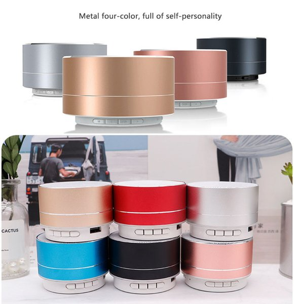 Mini Wireless Bluetooth Metal Speaker A10 Portable Subwoofer TF Card MP3 Music Player Speaker for Smartphone pc