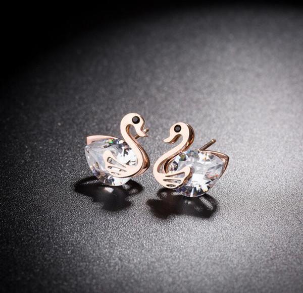 2019 marques Aiguille Zircon Diamant Boucle D'oreille Caneton Bijoux Pour Les Femmes Cadeau De Fête livraison gratuite 287