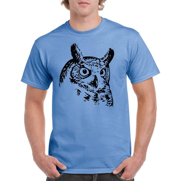 T-Shirt Tattooed Owl Face Like Tee Animal Lover Cute Cool Funny free shipping Unisex Casual Tshirt