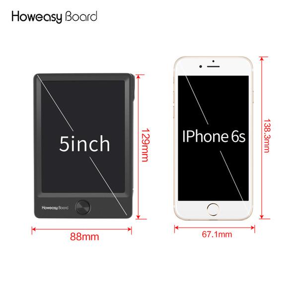 Mini 5 inç LCD Elektronik Yazma Tablet Dijital Çizim El Yazısı Pad