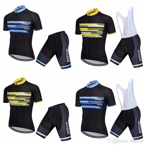 GIGANTE equipe Ciclismo Mangas Curtas jersey (babador) shorts conjuntos Sportswear verão secagem rápida respirável Ciclismo Roupas F0206