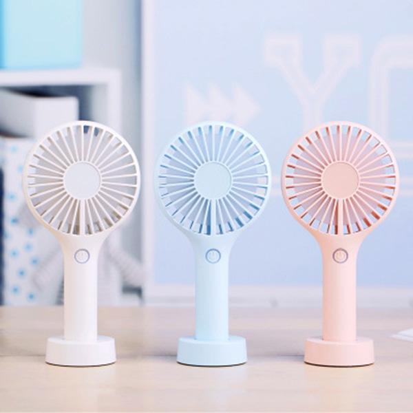 top popular Wholsale Portable fans USB Rechargeable fans air cooler mute handheld mini fans 3 color DHL UPS FDEX 2021