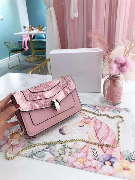 Designer-Luxus Handtasche Taschen Schlange Kopf Designer Handtaschen Mode Totes Kette Gurt Frauen Mode Totes hohe Qualität BV Handtasche
