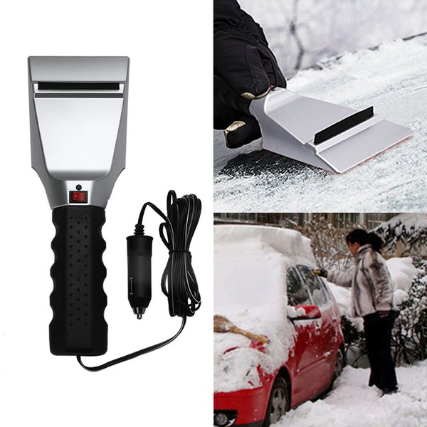 best selling 1PC Flexible 12V Car Auto Electric Heated Windshield Ice Snow Scraper Remove Auto Car Lighter Cleaning Shovel Winter Power Tools