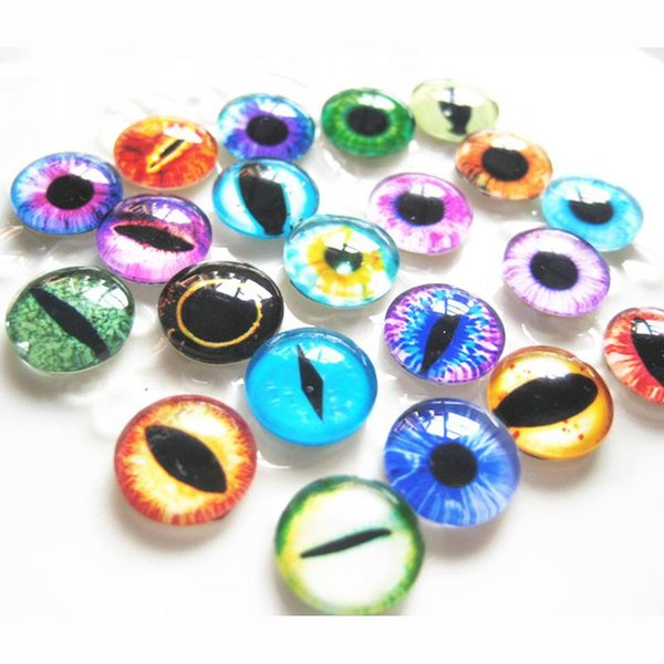 50pcs/bag Colorful Glasses Dolls Eyes Dinosaur eyes Doll toys DIY Craft Dinosaur Dragon Animal Time Gem Accessories 20mm