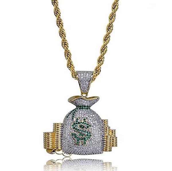 money bag+rope chain