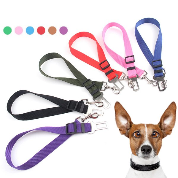 best selling 4styles Cat Dog Car Safety Seat Belt Harness Adjustable Pet Puppy Pup Hound Vehicle Seatbelt outdoor Lead Leash for Dogs FFA2504