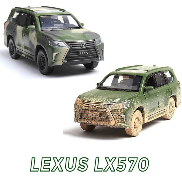 1:32 LX570 Music Light Alloy Metal Diecast Cars Toy Gold White Black Door Openable Pull Back Model Car Toys for children kids